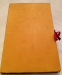 Diary Deer Skin with Red Ribbon Tie