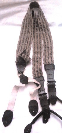 Green Woven Braces Military or Dress